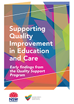 Supporting Quality Improvement in Education and Care