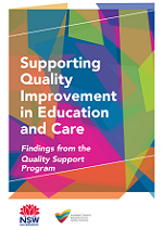 Supporting Quality Improvement in Education and Care Findings from the Quality Support Program
