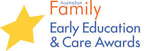 Australian Family Early Education and Care Awards logo with a large gold star