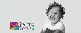 Starting Blocks logo and little baby