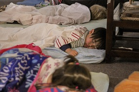 Children asleep at an education and care service