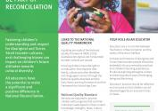 QA1 Be part of reconciliation with image of indigenous girl in classroom