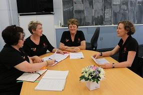 Educators from Wynnum Family Day Care discussing their programs