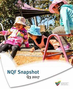 NQF Snapshot Q3 2017 cover featuring three little girls playing on bars in the sun