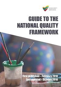 Cover of the updated Guide to the National Quality Framework