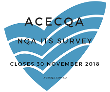 NQA ITS survey acecqa logo with text