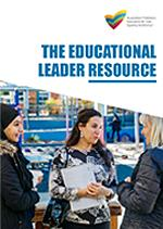 The Educational Leader Resource cover showing educators talking to each other