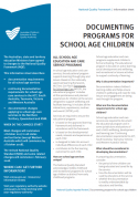 Documenting programs for school age children