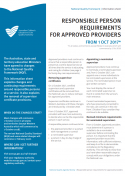 Responsible person requirements for approved providers from 1 Oct 2017