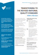 Information sheet providing key information on transitioning to 2018 NQS.