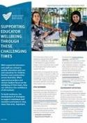Cover for Supporting educator wellbeing