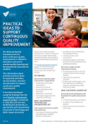 Practical ideas for approved providers, service leaders, teachers and educators to support continuous quality improvement.